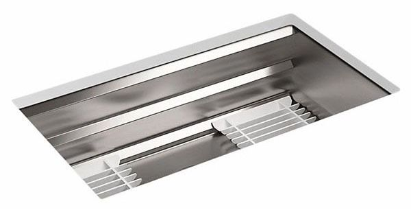 "Prolific Undermount Kitchen Sink, Stainless Steel 33"" X 17-1/2"" X 10-15/16"""