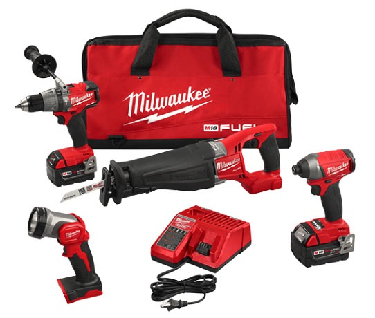 4-Tool Cordless Combination Power Tool Kit - M18 FUEL