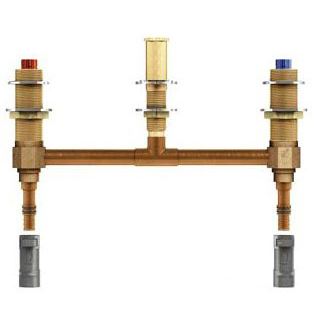 """Two Handle Roman Tub Valve 10"""" Centers 1/2"""" Pex With 1/2"""" Cpvc Adapters"""