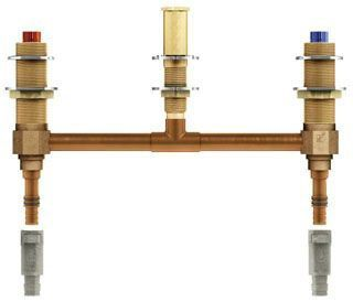 "M-Pact Two Handle Roman Tub Valve 10"" Centers 1/2"" Pex With 1/2"" Cold Expansion Pex Adapters"