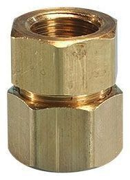"""1/2"""" Female Threaded x Flare Yellow Brass Straight Transition Pipe Fitting"""