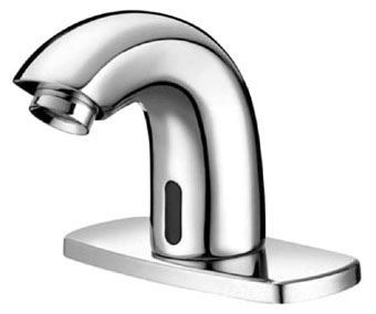 Deck Mount Electronic Pedestal Faucet, Chrome Plated