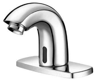 Deck Mount Electronic Pedestal Faucet, Chrome Plated
