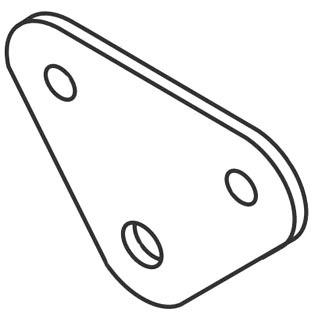 gre 34965 GRE PLATE SUPPORT INNER ROLLER (2')