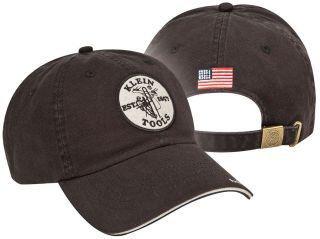 KLEIN 96875 BLK W/LOGO BASEBALL CAP