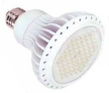 ~(S8837) 14PAR30LED35K 7W 120V PAR30-LED 3500K DIMMABLE 60-DEGREE FLOOD BEAM SPREAD MEDIUM (E26) SCREW BASE WHITE HOUSING LED LAMP