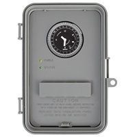 WHQ4 WATER HEATER TIMER W/BATTERY BACKUP, 40A SPDT/DPDT, 24 HOUR - PLASTIC INDOOR ENCLOSURE