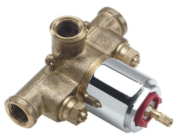 Threaded Tub and Shower Valve, Forged Brass