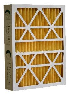 """15-3/8X27X6"""" Pleated Air Cleaner Filter, Synthetic Fiber Media"""