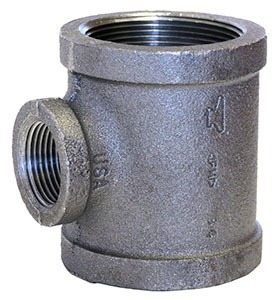 "1/2"" X 3/8"" Galvanized Malleable Iron Tee Domestic"