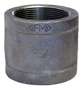 "2-1/2"" Black Malleable Iron Coupling Domestic"