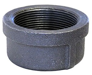 "2-1/2"" Galvanized Malleable Iron Cap Domestic"