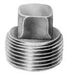 """3/8"""" Steel Square Head Solid Plug"""
