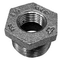"2-1/2"" X 2"" Malleable Iron DWV Outside Hex Head Reducing Bushing"