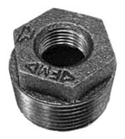 "2-1/2"" X 1-1/2"" Cast Iron DWV Inside Hex Head Reducing Bushing"