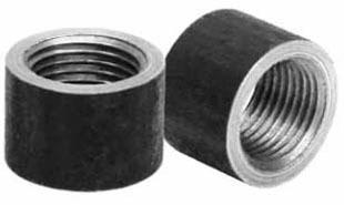 "3/8"" Steel Domestic Half Straight Coupling"