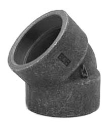 "1-1/2"" Forged Carbon Steel 45D Elbow"
