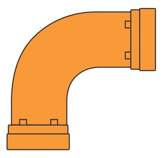"2"" Fabricated Carbon Steel Long Radius 90D Elbow"