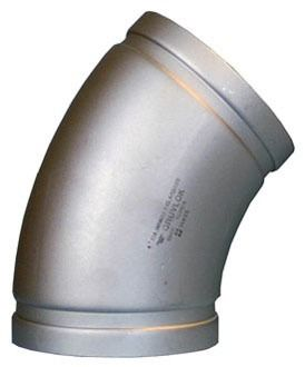 """3"""" Fabricated 304 Stainless Steel 45D Elbow"""