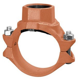 "3"" X 2"" Ductile Iron Single Outlet Clamp-T"