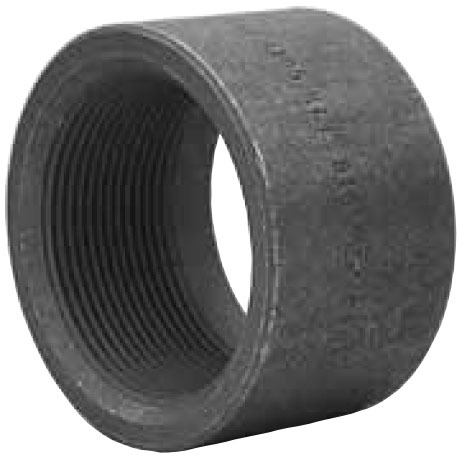 """1-1/4"""" Forged Carbon Steel Half Straight Coupling"""