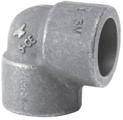 """1-1/4"""" Forged Carbon Steel Import 90D Elbow"""