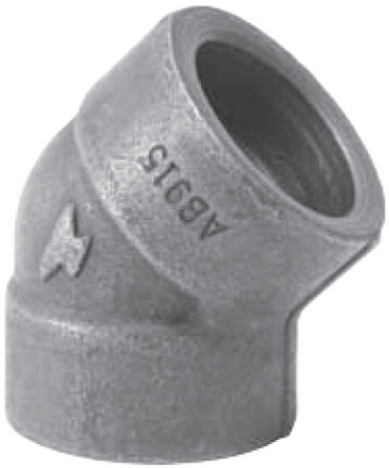 "1/2"" Forged Carbon Steel Import 45D Elbow"