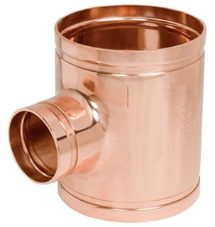 "6"" X 2-1/2"" Copper Reducing Tee"