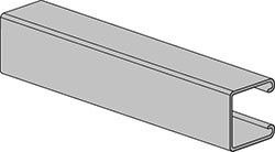 "1-5/8"" X 1-5/8"" X 10 Ft. Elongated Hole, Single Channel, Pre-Galvanized Carbon Steel"