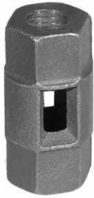 "1/2"" Straight Rod Coupling, Malleable Iron"