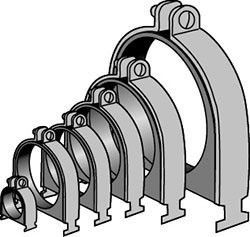 """3/8"""" Carbon Steel 2-Piece 2-Hole Cushion Pipe Clamp"""
