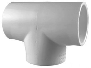 "3/4"" PVC Straight Tee - SCH 40, Socket"