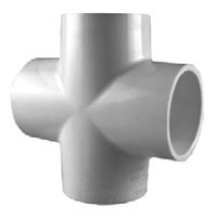 "1"" PVC Straight Cross SCH 40"