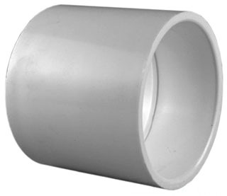 "1/2"" PVC DWV Straight Coupling - SCH 40, Socket"