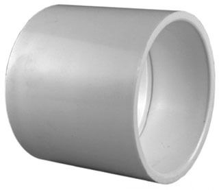 "3/4"" PVC DWV Straight Coupling - SCH 40, Socket"