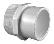 "3/4"" x 1/2"" PVC DWV Male Reducing Adapter - SCH 40, MPT x Socket"