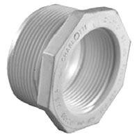 """1-1/2"""" x 1"""" PVC DWV Flush Reducing Bushing - SCH 40, MPT x FPT"""