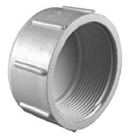 "1/2"" PVC DWV Round Head Cap - SCH 40, FPT"