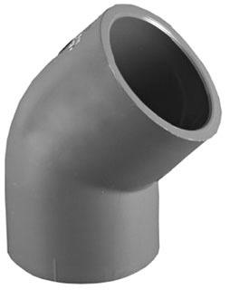 """1-1/2"""" PVC DWV 45D Elbow Schedule 80 S"""