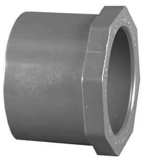 "1-1/4"" X 3/4"" PVC Concentric Hex Flush Bushing Schedule 80 S"