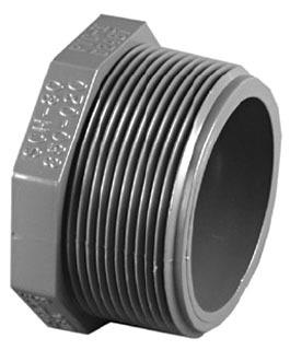 "3/4"" PVC Plug - SCH 80, MPT"