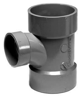 "3"" X 1-1/2"" CPVC Sanitary Reducing Tee"