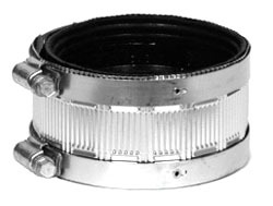 "4"" Gray Cast Iron DWV Standard Straight Coupling"