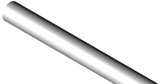 "1/2"" X 20' PVC SCH 80 Pipe - Gray, Plain End"
