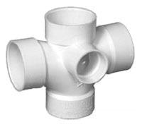 "3"" PVC DWV Sanitary Side Inlet Reducing Tee"
