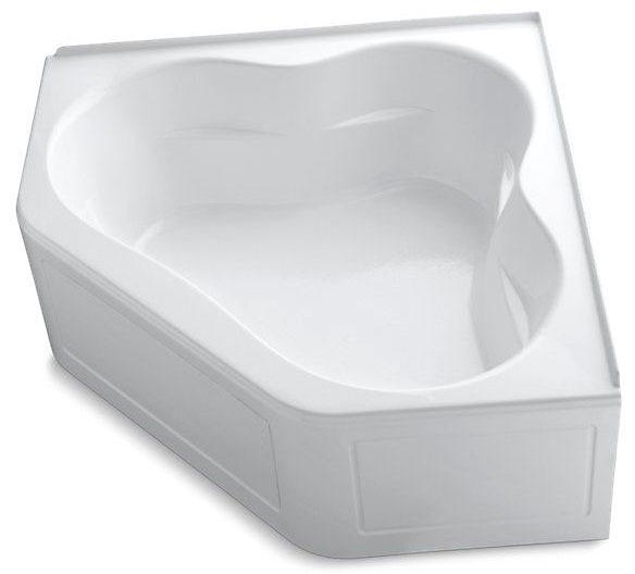 Tercet 60X60 Bath Integral Apron White