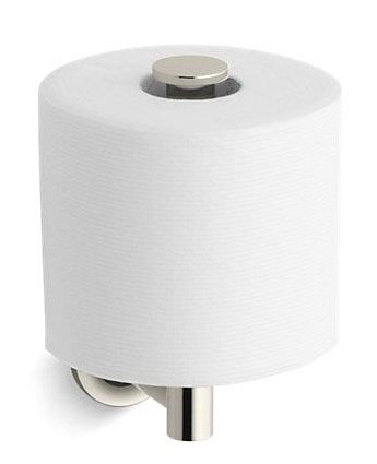 Toilet Tissue Holder - Purist, Vibrant Polished Nickel Solid Brass