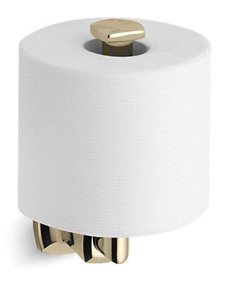 Margaux Vertical Toilet Paper Holder Vibrant French Gold