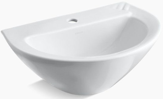Parigi 20X14 Lavatory Center Hole White