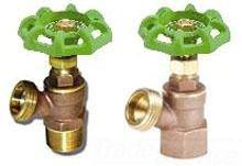 """1/2"""" x 3/4"""" Brass Full Flow Angle Boiler Drain Valve - Handwheel, FPT x Hose Threaded, 125 psi CWP"""
